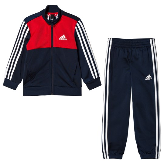 adidas Performance Navy and Red Branded Tibero Tracksuit Top:collegiate navy/vivid red/white Bottom:COLLEGI