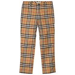 Burberry Check Teo Pants Antique Yellow