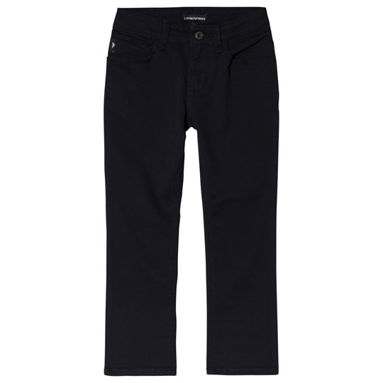Emporio Armani Blue Gabardine 5 Pocket Chinos 0922