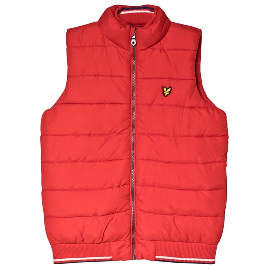 Lyle & Scott Red Puffer Gilet Color Description