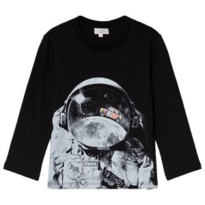 Image of Paul Smith Junior Black Spaceman and Mini Applique Long Sleeve Tee 10 years (3056090591)