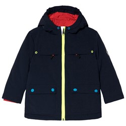 Paul Smith Junior Navy Parka with Contrast Colour Details