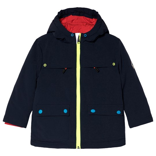 Paul Smith Junior Navy Parka with Contrast Colour Details Navy