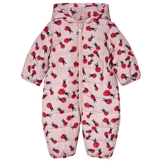 Stella McCartney Kids Pink Puddle Coverall Ladybird Print 5961 - Lady Bugs Pr