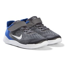 NIKE Blue and Grey Free Run Junior Shoes