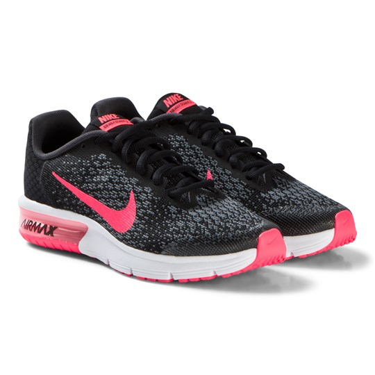 9ff918733ba3 NIKE - Black and Pink Air Max Sequent 2 Running Shoes - Babyshop.com