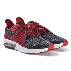 NIKE Red Air Max Sequent 3 Running Shoes