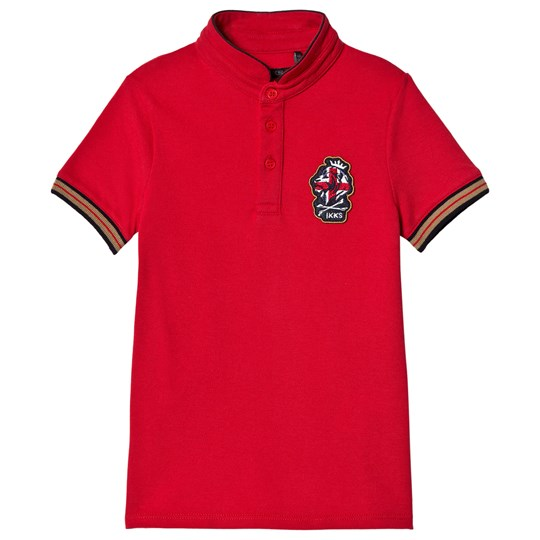 IKKS Dark Red Logo Polo Shirt 37