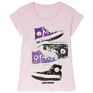 Image of Converse Pink Stacked Chucks Tee 2-3 years (3056104837)