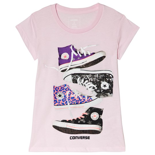 Converse Pink Stacked Chucks Tee A31-ARTIC PINK