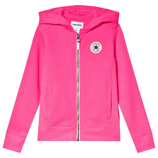 Converse Pink Chuck Taylor Logo Panel Hoodie AA6-PINK POW