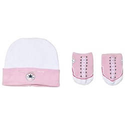 Converse Pink Hat and Booties Set