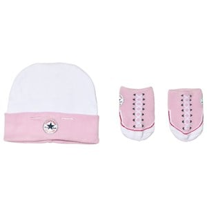 Image of Converse Pink Hat and Booties Set 0-6 months (3056105189)