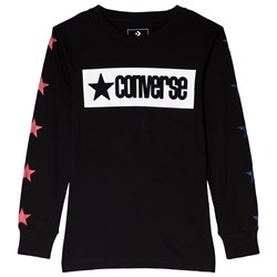 Converse Black Vintage Star Taped Long Sleeve Tee
