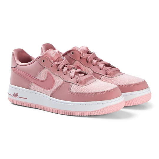NIKE Pink Air Force 1 LV8 Junior Shoes 603