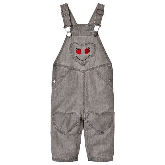 Stella McCartney Kids Grey Olive Overalls with Smiling Lady Bug 1461 - Thunder