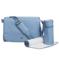 Emporio Armani Pale Blue Changing Bag with Mat and Bottle Holder 00332 de83013a50b4d