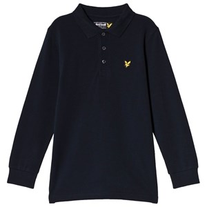 Image of Lyle & Scott Navy Classic Logo Long Sleeve Polo 6-7 years (3056093007)