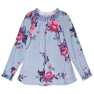 Image of Tom Joule Blue Addison Stripe and Floral Blouse 2 years (3056081927)