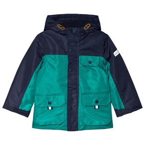 Image of Tom Joule Blue and Green Playground Waterproof Coat 2 years (3056081951)