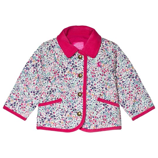 Tom Joule Pink Mabel Ditsy Quilted Jacket ACORN DITSY