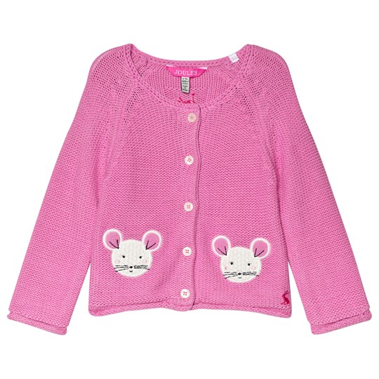 Tom Joule Pink Dorrie Mouse Knitted Cardigan PINK MOUSE