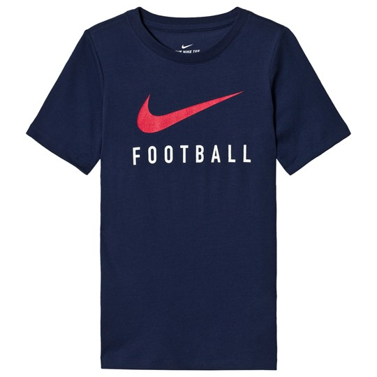 NIKE Navy Dry Football Slogan Tee 410