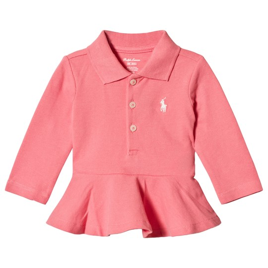 Ralph Lauren Pink Embroidered Logo Pique Polo 003