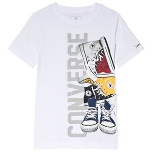 Image of Converse White Pile´ Em Up Sneakers Tee 8-10 years (3056105083)