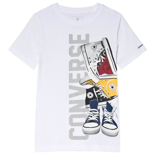 Converse White Pile´ Em Up Sneakers Tee 001-WHITE