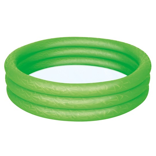 Bestway Inflatable 3-Ring Pool 140L Green Green
