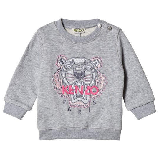 Kenzo Grey and Pink Embroidered Tiger Sweatshirt 25