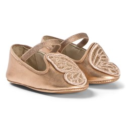 Sophia Webster Mini Bibi Glitter Butterfly Wings Babyskor Roséguld/Guld