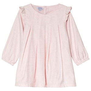 Image of Absorba Pale Pink and Silver Lurex Frill Dress 3 months (1113555)
