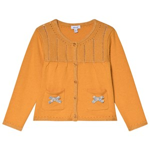 Image of Absorba Mustard Lurex Knit Cardigan with Bow Detail 12 months (3056071299)