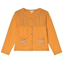 Absorba Mustard Lurex Knit Cardigan with Bow Detail 72 9d1431e5b9