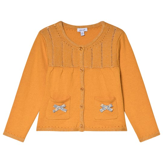 Absorba Mustard Lurex Knit Cardigan with Bow Detail 72