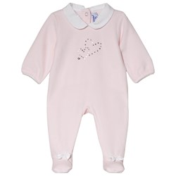 Absorba Pale Pink Swarovski Heart Footed Baby Body