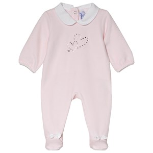Image of Absorba Pale Pink Swarovski Heart Footed Baby Body 12 months (3056070959)