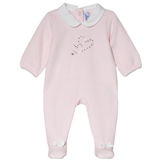 Absorba Pale Pink Swarovski Heart Footed Baby Body 30