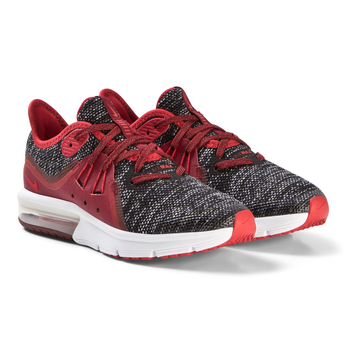 new product 33b01 282d6 nike red and grey air max sequent 3 running shoes