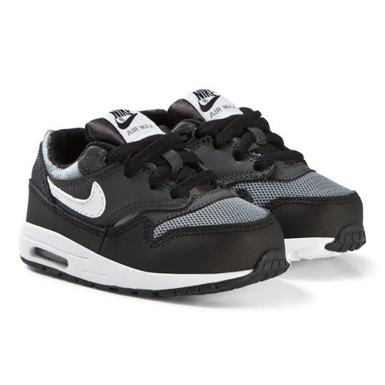 NIKE Black Air Max 1 Infants Shoes 009