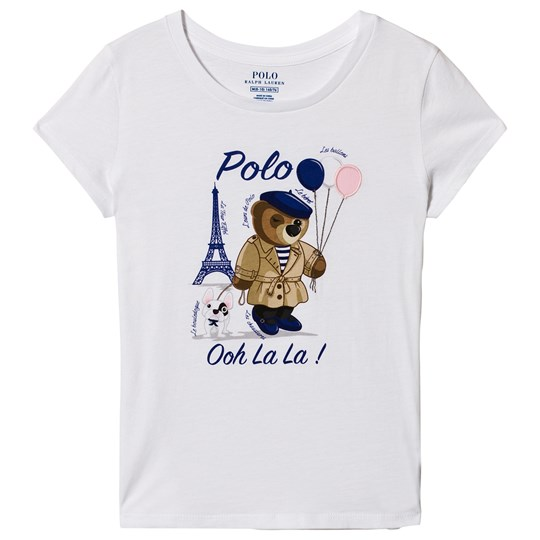 Ralph Lauren White Paris Bear Print Tee 002
