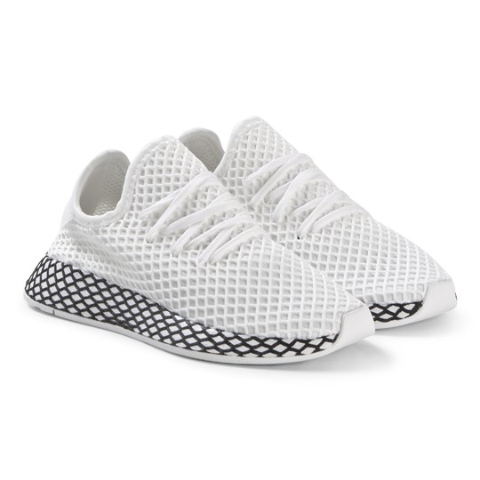 adidas Originals White Deerupt Runner Sneakers FTWR WHITE/FTWR WHITE/CORE BLACK