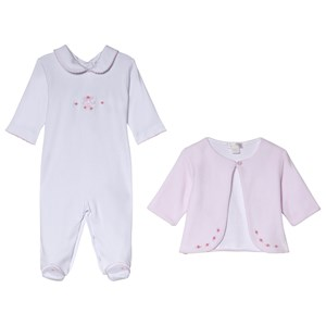 Image of Kissy Kissy Pink Premier Ballet Embroidered Velour Jacket and Footed Baby Body Set 0-3 months (3056092149)