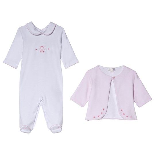 Kissy Kissy Pink Premier Ballet Embroidered Velour Jacket and Footed Baby Body Set PINK PREMIER BALLET
