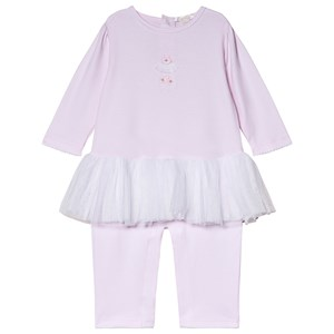 Image of Kissy Kissy Pink Premier BalPink Premier Ballet Tulle and Embroidered One-Piece let Tulle and Embroidered Detail Footless Babygrow 0-3 months (3056092163)
