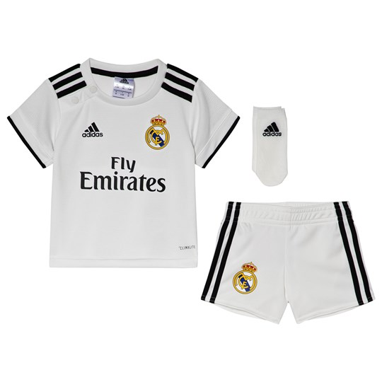 Real Madrid Real Madrid '18 Kids Bortaställ Vit Core White