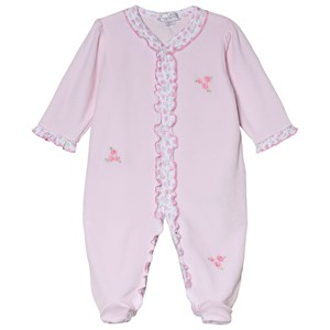 Image of Kissy Kissy Pink Rambling Roses Embroidered Footed Baby Body 6-9 months (3056092127)