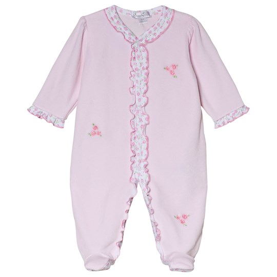 Kissy Kissy Pink Rambling Roses Embroidered Footed Baby Body PINK RAMBLING ROSES
